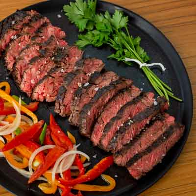 Herb Marinated Bavette with Criolla